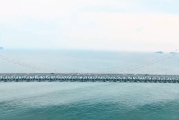 跨海大桥星海广场雪山雪景