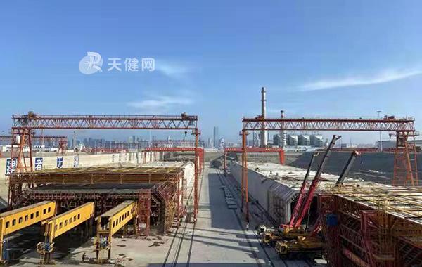 大连湾海底隧道项目西坞第二批管节完成预制